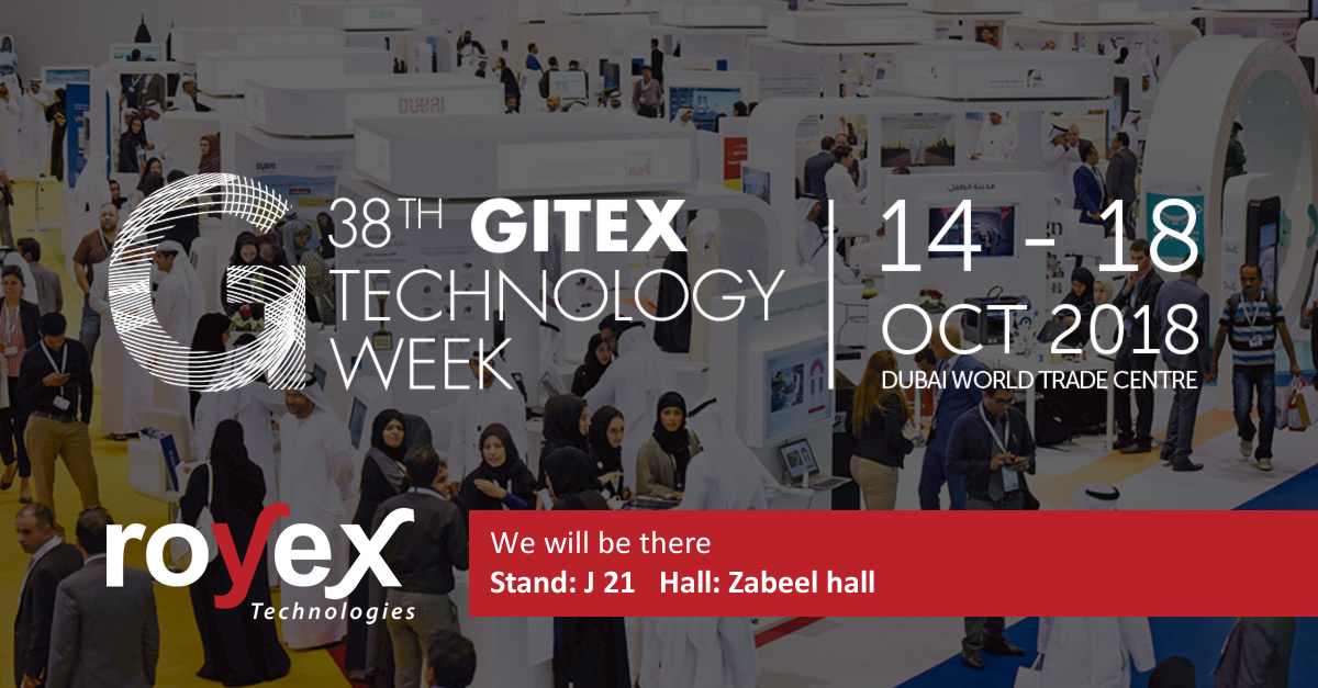 Royex Technologies are taking part in 38th Gitex Technology Week 2018