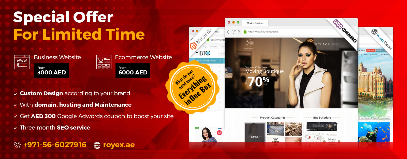 Special Website & Ecommerce Design Offer