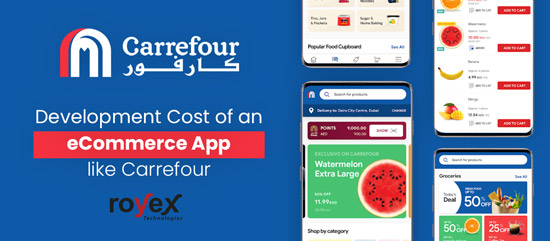Development cost of an eCommerce platform like Carrefour?
