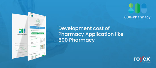 Development cost of Pharmacy App like 800 Pharmacy