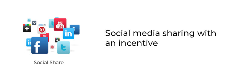 Social media sharing with an incentive