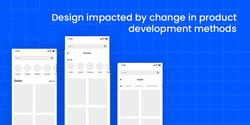 Design impacted by change in product development methods