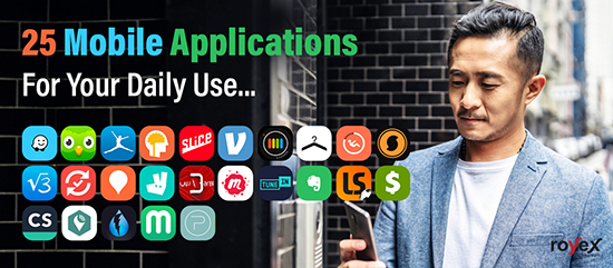 25 Mobile Applications For Your Daily Use